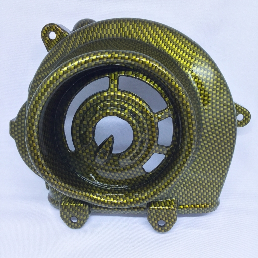 ฝาครอบใบพัด (DRAGON) ZOOMER-X คาร์บอนทอง